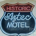 Route 66 Aztec Hotel Mural by Bob Christopher