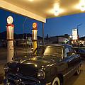 Route 66 Garage Scene by Bob Christopher