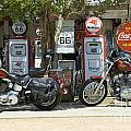 Route 66 Gas Pumps by Bob Christopher