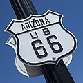 Route 66 Highway Sign by Bob Christopher