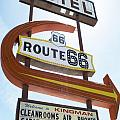 Route 66 Motel Sign 1 by Bob Christopher