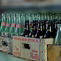 Route 66 Odell Il Gas Station Cases Of Pop Bottles Digital Art by Thomas Woolworth