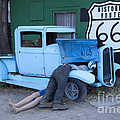 Route 66 Repair Shop by Bob Christopher