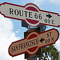 Route 66 Street Sign by Phyllis Denton