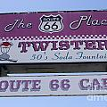 Route 66 Twisters Sign by Bob Christopher