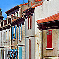 Row Of Houses In Arles Provence by Greg Matchick
