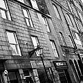 Row Of Old Granite Houses And Shops On The Green Aberdeen Scotland Uk by Joe Fox