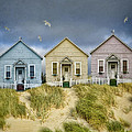 Row Of Pastel Colored Beach Cottages by Jill Battaglia