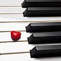 Row Of Piano Keys by Garry Gay
