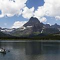 Rowboat At Many Glacier by Lorraine Devon Wilke