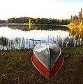 Rowboats At Jade Lake In Northern Saskatchewan by Mark Duffy