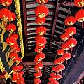 Rows Of Red Chinese Paper Lanterns - Shanghai China by Christine Till