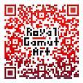 Royal Gamut Art - Qr Code by Tom Roderick
