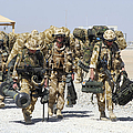 Royal Marines Haul Their Equipment by Andrew Chittock