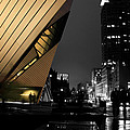 Royal Ontario Museum Night by Andrew Fare