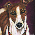 Royalty - Greyhound Painting by Michelle Wrighton