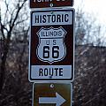 Rt 66 Il Turn Out Signage by Thomas Woolworth