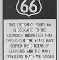 Rt 66 Lexington County Signage by Thomas Woolworth