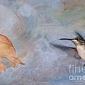 Ruby Throated Hummingbird 2 by Betty LaRue