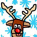 Rudolph's Portrait by Jera Sky