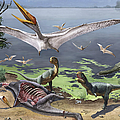 Rugops Primus Dinosaurs And Alanqa by Sergey Krasovskiy