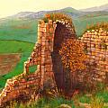 Ruined Castle View by Lou Ann Bagnall