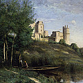 Ruins Of The Chateau De Pierrefonds by Jean Baptiste Camille Corot