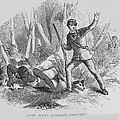 Runaway Slave With Armed Slave Catcher by Everett