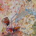 Runes Ocher And Pink I by Mickey Bond