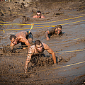 Runners Navigate An Obstacle Course by Stocktrek Images