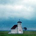 Rural Church With Stormy Sky by Jill Battaglia