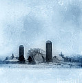 Rural Farm In Winter by Jill Battaglia