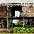 Rural Fishermen Houses In Cambodia by Artur Bogacki