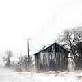 Rural Road By A Shack In Winter by Jill Battaglia