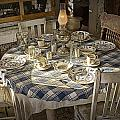 Rural Table Setting For Four No.3121 by Randall Nyhof