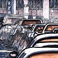 Rush Hour Approach To Midtown Tunnel Nyc by Al Goldfarb