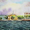 Russia Saint Petersburg Neva River by Irina Sztukowski