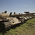 Russian T-62 Main Battle Tanks Rest by Terry Moore