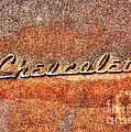 Rusted Antique Chevrolet Logo by Dan Stone