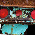Rusted Blue Taillight by Lorraine Devon Wilke