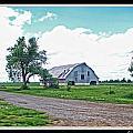 Rustic Barn Scene by Debbie Portwood