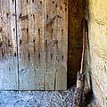 Rustic Door And Broom by Jill Battaglia