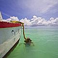 Rustic Fishing Boat Of Aruba by David Letts