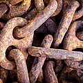 Rusty Anchor Chains In Key West by Adam Pender