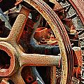 Rusty Flywheel  by Franklin Jeffers
