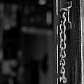 Rusty Lock - Black And White by Scott Sawyer