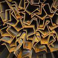 Rusty Fenceposts by Jean Noren