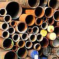 Rusty Steel Pipes by Yali Shi