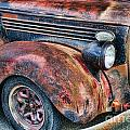 Rusty Truck Hood And Fender by Randy Harris