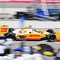 Ryan Hunter-reay Exiting Pit  Road by Jarvis Chau